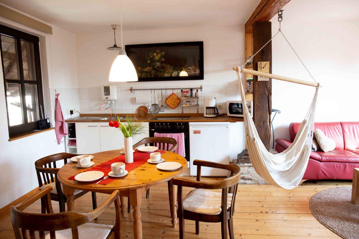 Ferienwohnung Küche-Wohnzimmer